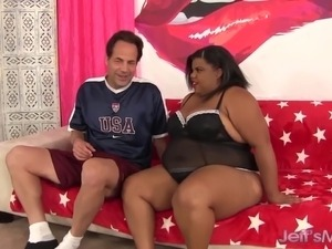 Ebony plumper fucked good