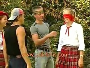 Naughty Teens Get Fucked and Facialized In an Outdoor Group Sex Party