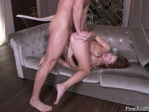 Cute Elnara Cat enjoys her first time anal sex