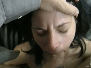 Attractive brunette chick Lexy sucks her fellow's sugary cock