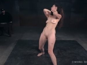 Black haired mature hooker Emma adores hard BDSM sex