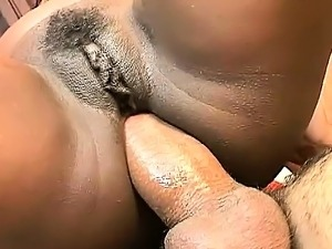 Voluptuous ebony beauty Ellen Mederios feeds her passion for anal sex