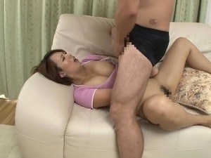 Mature Japanese girl gives it up to two guys at her office