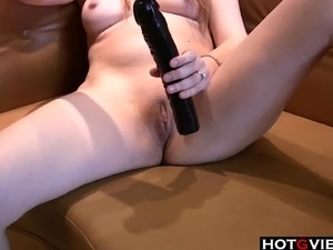 Some very hot close up shots of a cutie rubbing and toy fucking her little pussy