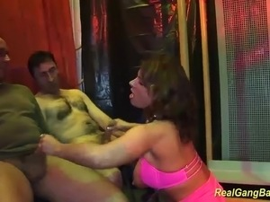 Big breast german Milf Sexy Susi in a wild gangbang swinger party fuck orgy