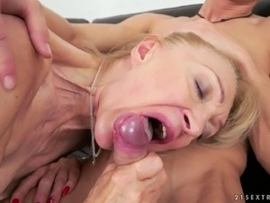 Granny and a fit college guy fucking passionately