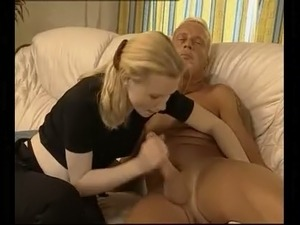 Beautiful blonde pregnant blowjob