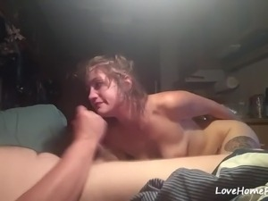 Big ass brunette girlfriend gets face fucked by her aggressive man