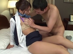 Schoolgirl called Nami is ready to have hardcore sex on the couch