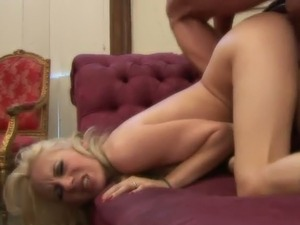 Two sexy looking wild blondes enjoy hard core swinger foursome