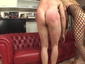 Big dick shemale in bodystockings fucking a dude's asshole