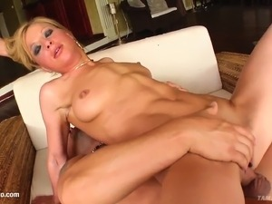 Ely in hard gonzo style scene from Tamed Teens
