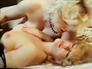 Exquisite lavish vintage lesbian action of two hot blondies