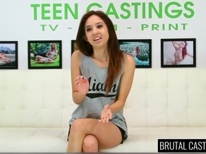 18YO teen Mill Jade squirting and gets rough sex domination