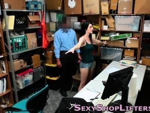 Shoplifter gets cumshot
