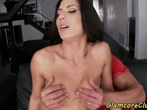 Glamour pornstar pussy slammed and facialized