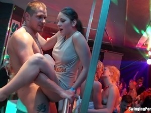 Ladies night out turns into a wild and mad orgy in a club