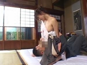 Kimono is so beautiful on this Japanese girl eaten out