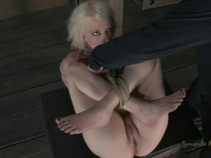 Slave with nice ass striped then ravished hardcore in BDSM