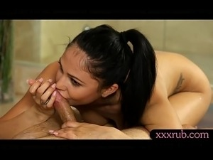 Hot girl Ariana Marie gives massage and asshole fucked