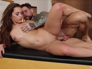Guy with tattooes ravished cock craving Jenny Glam's cunt