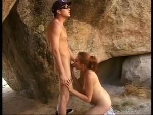 Horny chick Jane Lixx in naughty outdoor banging with cum on tits