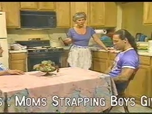 Mom gets it in the Kitchen