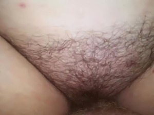 Horny BBW getting fucked in her hairy big fat cunt