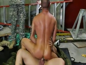 Horny soldiers enjoying wild gay orgy with anal pounding