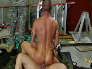 Gay soldiers roughly pounding assholes in orgy