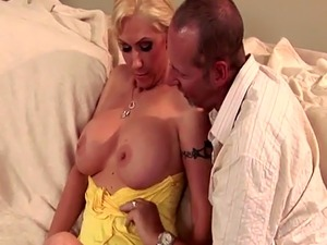 Busty milf anally fucked while hubby watches