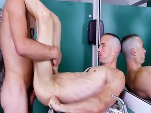 Horny soldier gets filled with two stiff cocks