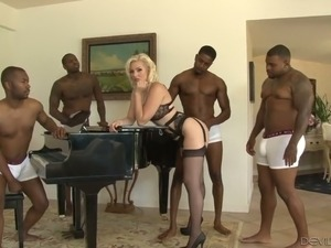 There are too many cocks for Jenna Ivory but she is a pro