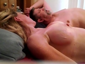 Lady J gets another full load on her huge tits