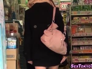 Asian hotties flash panty