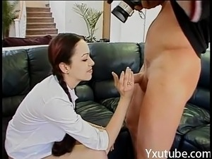 sexy young slut with perky tits drops to her knees a highly-skillednd gives a hi