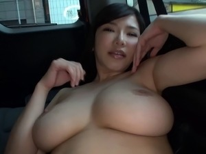 Anri Okita is willing to do some nasty things in a car