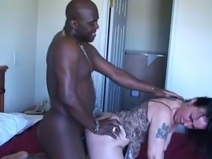 Hairy mature with saggy titties interracial.