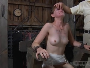 Charming slave having her nice ass spanked in BDSM