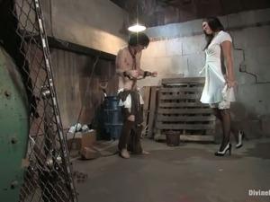 Horny Bobbi Starr Dominates Guy for a Crazy Cock Ride in Femdom Bondage