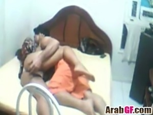 Missionary pounding for amateur Arab girlfriend