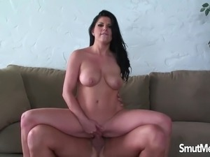 very hot brunette fucking hard
