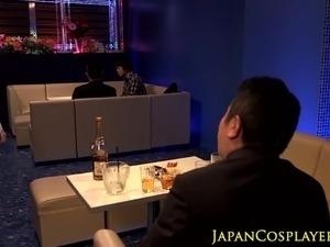 Japanese cosplay  busty babe titfucking pov