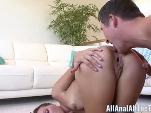Russian Teen Gets Ass Filled with Cum All Anal All The Time