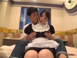 Adoring Japanese maid wants to feel a handsome man's fingers