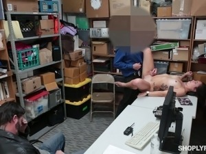 Horny police officer is perfectly happy to fuck this nasty shoplifter