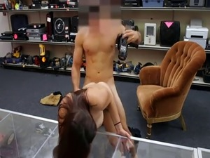 Lovely amateur college babe pounded by pervert pawn man
