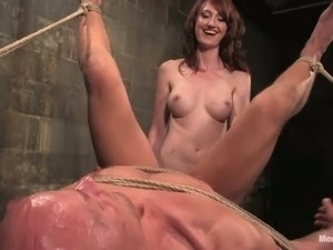Beautiful Redhead Kendra James Dominates Guy and Strapon Fucks Him