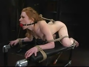 Kinky Madison gets suspended and clothespinned
