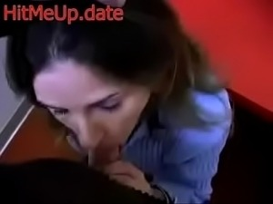 Brunette Begging for Cum in Her Mouth